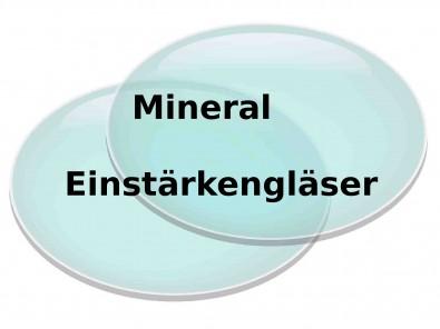 2 Einstärken Mineral Brillengläser  Inkl. Superentspiegelung
