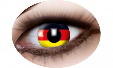 Motivlinsen Deutschland Flagge  2 Stck  Jahreslinsen