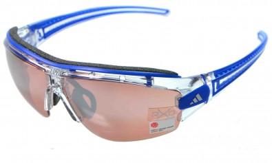 adidas S a168 6074 Evil eye halfrim pro inkl. Sehstärkenclip crystal blue