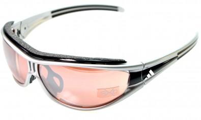 adidas L a126 6077 evil eye pro race silver/black inkl. Sehstärkenclip