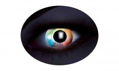 Motivlinsen UV rainbow diamond rot  2 Stck  Jahreslinsen